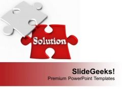 Find Solution Part For Problem PowerPoint Templates Ppt Backgrounds For Slides 0413