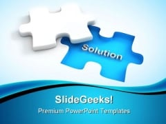 Find Solution Puzzle Business PowerPoint Themes And PowerPoint Slides 0411