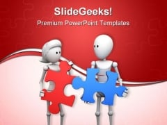 Find Solution Puzzle Teamwork PowerPoint Templates And PowerPoint Backgrounds 0411