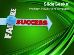 Find Success And Jump Failure PowerPoint Templates Ppt Backgrounds For Slides 0713