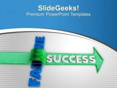 Find Success By Jumping Over Failure PowerPoint Templates Ppt Backgrounds For Slides 0513