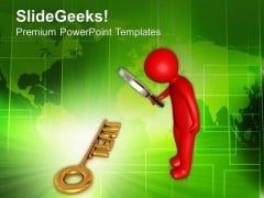 Find The Gloden Key Called Team For Success PowerPoint Templates Ppt Backgrounds For Slides 0713