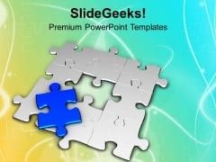 Find The Missing Part Of Solution PowerPoint Templates Ppt Backgrounds For Slides 0613
