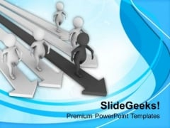 Find The Path And Become Leader PowerPoint Templates Ppt Backgrounds For Slides 0613