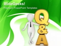 Find The Right Answer To The Question PowerPoint Templates Ppt Backgrounds For Slides 0713