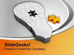 Find The Right Puzzle Solution PowerPoint Templates Ppt Backgrounds For Slides 0413