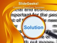 Find The Right Solution For Business Growth PowerPoint Templates Ppt Backgrounds For Slides 0613