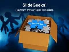 Find The Solution Business Concept Teamwork PowerPoint Templates Ppt Backgrounds For Slides 0213