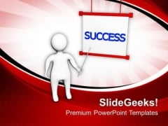Find The Way To Get Success PowerPoint Templates Ppt Backgrounds For Slides 0513