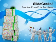 Find Your Own Gift This Festive Season PowerPoint Templates Ppt Backgrounds For Slides 0513