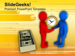 Finish The Deal On Time In Business PowerPoint Templates Ppt Backgrounds For Slides 0513