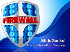Fire Wall Technology PowerPoint Themes And PowerPoint Slides 0211