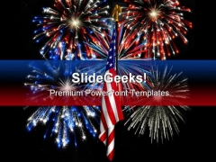 Fireworks01 America Festival PowerPoint Template 1010