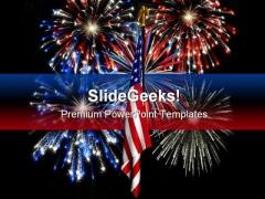 Fireworks01 America Festival PowerPoint Template 1010
