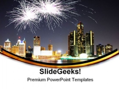 Fireworks Celebration Festival PowerPoint Themes And PowerPoint Slides 0511