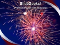 Fireworks Festival PowerPoint Background And Template 1210