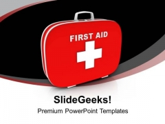 First Aid And Safety Box PowerPoint Templates Ppt Backgrounds For Slides 0613