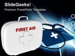 First Aid Box Medical Symbol PowerPoint Templates Ppt Backgrounds For Slides 0513