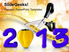 Fitness And Health Concept New Year PowerPoint Templates Ppt Backgrounds For Slides 1212