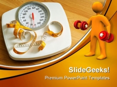 Fitness Scales Health PowerPoint Themes And PowerPoint Slides 0511