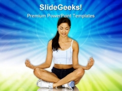 Fitness With Meditation Health PowerPoint Templates And PowerPoint Backgrounds 0311