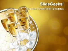Five Champagne Festival PowerPoint Themes And PowerPoint Slides 0511