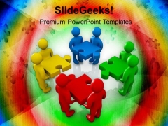 Fix Problem With Team Support PowerPoint Templates Ppt Backgrounds For Slides 0613