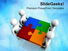 Fix The Business Problems With Team Actions PowerPoint Templates Ppt Backgrounds For Slides 0613