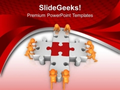 Fix The Problem Puzzle With Team PowerPoint Templates Ppt Backgrounds For Slides 0613