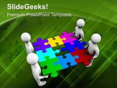 Fix The Problem With Team Effort PowerPoint Templates Ppt Backgrounds For Slides 0613