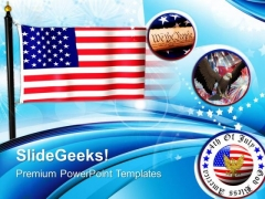 Flag Of United States Freedom American PowerPoint Templates And PowerPoint Themes 0612