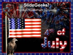 Flag With July 4th Festival PowerPoint Templates And PowerPoint Themes 0612