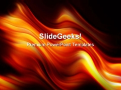 Flame Waves Abstract PowerPoint Templates And PowerPoint Backgrounds 0311
