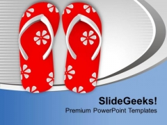 Flip Flop For Cool Holiday Theme PowerPoint Templates Ppt Backgrounds For Slides 0513