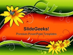 Floral01 Beauty PowerPoint Template 1110