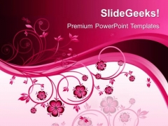 Floral Abstract Beauty PowerPoint Templates And PowerPoint Themes 0512