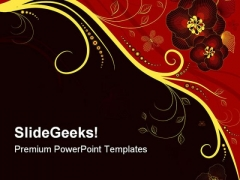 Floral Abstract PowerPoint Templates And PowerPoint Backgrounds 0311