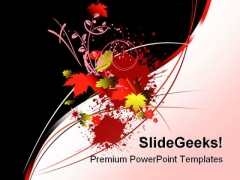Floral Background PowerPoint Templates And PowerPoint Backgrounds 0711
