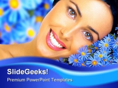 Floral Happiness Beauty PowerPoint Templates And PowerPoint Backgrounds 0311