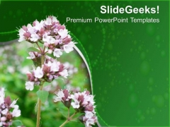 Flowers With Green Background PowerPoint Templates Ppt Backgrounds For Slides 0713