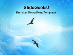 Flying High Nature PowerPoint Backgrounds And Templates 0111