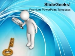 Focus To Find The Success Key PowerPoint Templates Ppt Backgrounds For Slides 0613