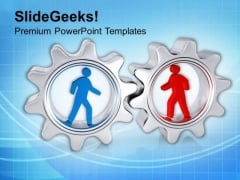 Focus Towards Gear Process Business Concept PowerPoint Templates Ppt Backgrounds For Slides 0713