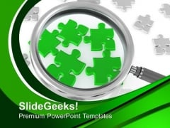 Focusing On Jigsaw Puzzle Pieces Business PowerPoint Templates Ppt Backgrounds For Slides 0413