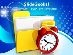 Folder And Clock PowerPoint Templates And PowerPoint Themes 0912