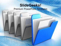 Folder Icon Computer PowerPoint Templates Ppt Backgrounds For Slides 1112