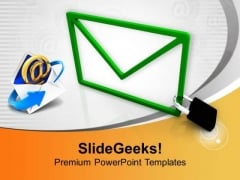 Follow Internet Technology In Business PowerPoint Templates Ppt Backgrounds For Slides 0413