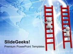 Follow The Concept Of Winners PowerPoint Templates Ppt Backgrounds For Slides 0713