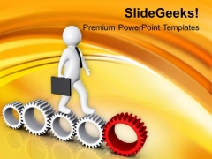 Follow The Growth Path PowerPoint Templates Ppt Backgrounds For Slides 0613