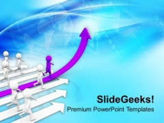 Follow The Highest Position Path PowerPoint Templates Ppt Backgrounds For Slides 0713